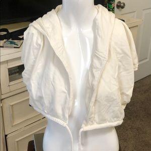 Crop hooded jacket